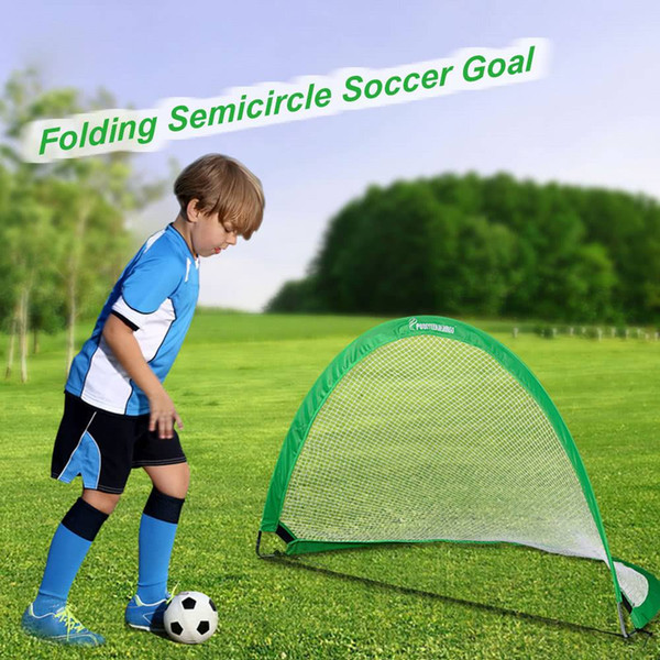 48x30x30 in Semicircle Portable Folding Soccer Goal Child Pop Up Soccer Goal for Sporting Goods Green