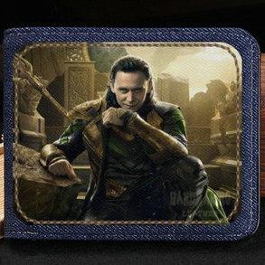 Loki Odinson wallet Cool Laufeyson purse Bad hero short cash note case Money notecase Leather jean burse bag Card holders