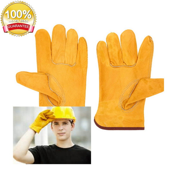best selling Workplace Gloves Working Protection Gloves Safety Welding Leather Yellow Colors Size L Protect worker hands Construction site out152