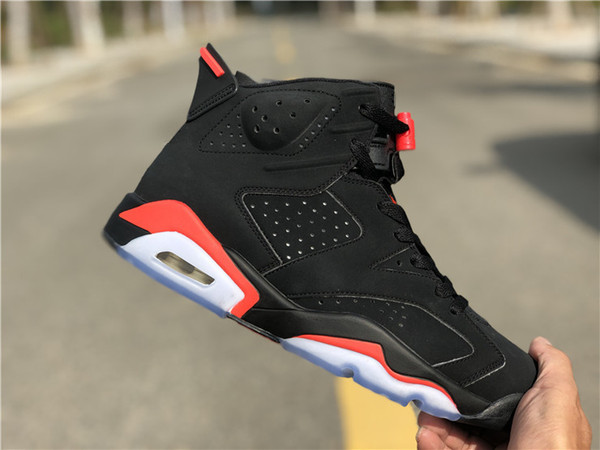 2019 new 6 black infrared red 3m vi bred men ba ketball hoe port 6 outdoor fa hion trainer neaker with box ize 8 13