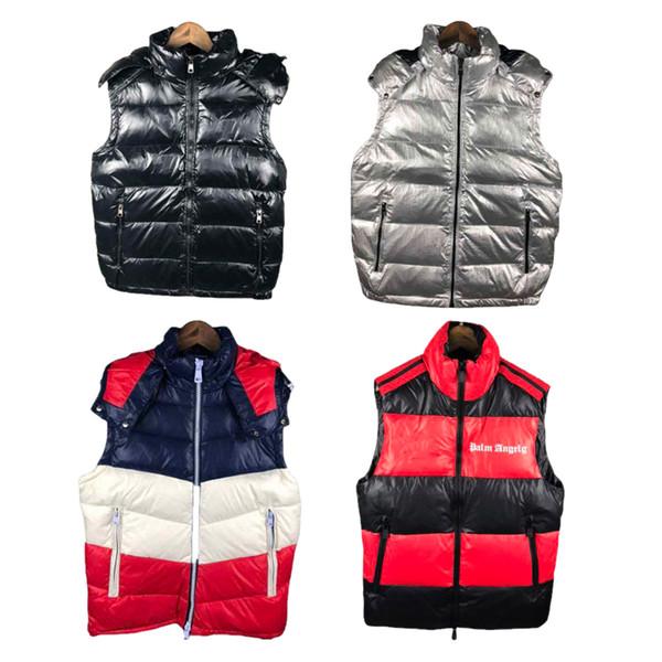 Mens Designer Piumino Gilet PALM ANGELI maniche Joint Sezione M Giacche lusso Patchwork spessa maglia di inverno Abbigliamento Uomo
