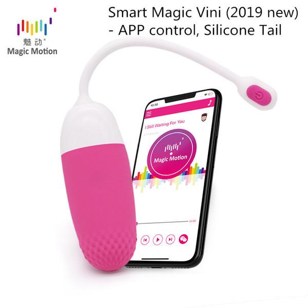Aplicación Freehand 10 Frecuencia Vibradores Inalámbricos Bluetooth Vibradores de Control Inteligente Juguete Sexual Remoto Masajeador de Huevos Vibrantes J190626