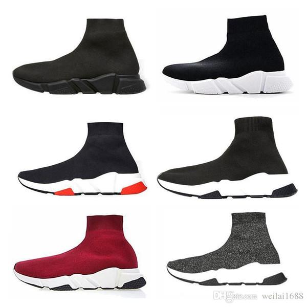 Moda Lüks Tasarımcı Kadın Ayakkabı Mens Çorap Hız Trainer Sneakers Örgü Yüksek moda lüks erkek kadın tasarımcı sandalet ayakkabı