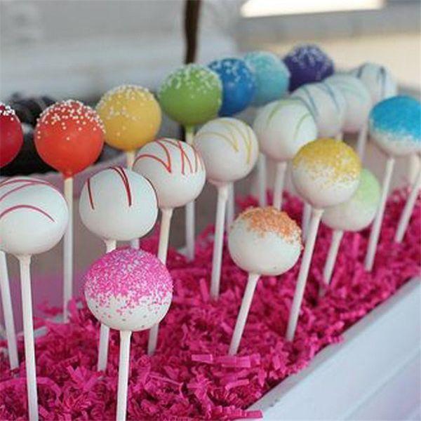 DIY 100 Unids 100mm Pop Sucker Sticks Cake Plástico Lolly Lollipop Dulces Modelado de Chocolate Molde Molde