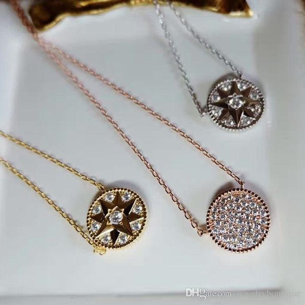 Special design Star shape with Cubic Zirconia Diamond Stone Pendant Long Necklaces For Women necklace in 43cm women jewelry gifts PS5113