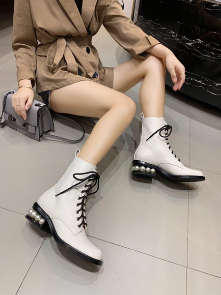 nuovo! ! Stivali da donna di alta qualità firmati da donna alla moda Martin stivali tomaia in pelle di montone fodera scarpe da donna invernali in vera pelle 100%