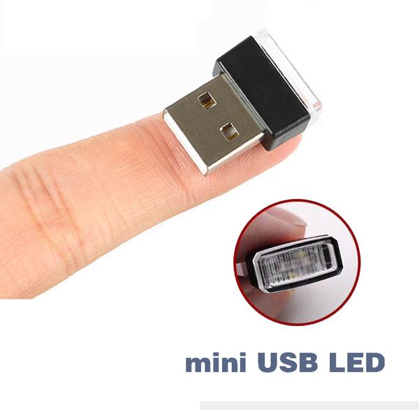 Luces de coche con USB Luces de ambiente LED Tomas de lámparas decorativas Iluminación de emergencia interior PC universal portátil Plug and Play