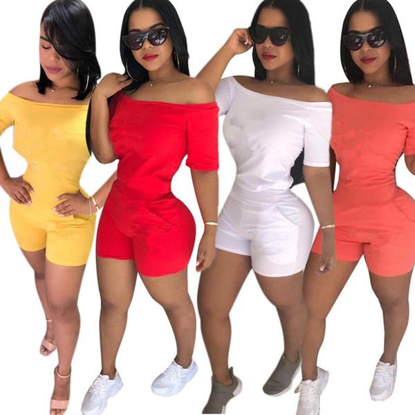 Marke Designer Frauen Kurzarm T-Shirt Shorts Trainingsanzug Zweiteiler Set T-Shirt Top Sweat Hose T-Shirt Sportbekleidung Sportanzug S-2XL 276
