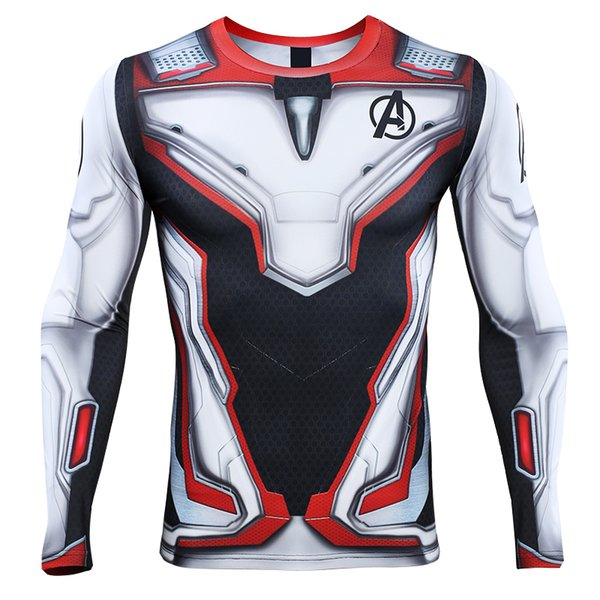 Avengers 4 Endgame Quantum War 3D Printed T shirts Men Compression Shirt Cosplay Costume Long Sleeve Tops For Male Fitness Cloth