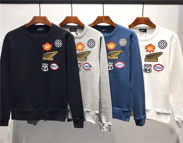 2019 nueva llegada de calidad superior de los hombres D2 marca de ropa de la calle sudaderas con capucha de manga larga con capucha M-3XL DS344