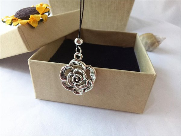cecmic vintage silver rose flower pendants and charms small cool necklace womens custom jewelry pendant gifts