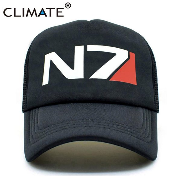 CLIMATE EFFECT N7 Cap Men N7 Logo MASS Trucker Caps EFFECT Game Cool Summer Caps Baseball Mesh Net Trucker Hat for Men