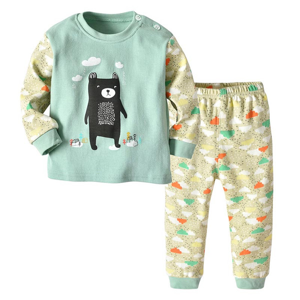 Crianças 2 Pcs Set Pijama para Meninos Roupa Interior Meninas Sleepwear Crianças Crianças Roupas de Criança Criança Roupas Infantis Roupas Despeje Enfants