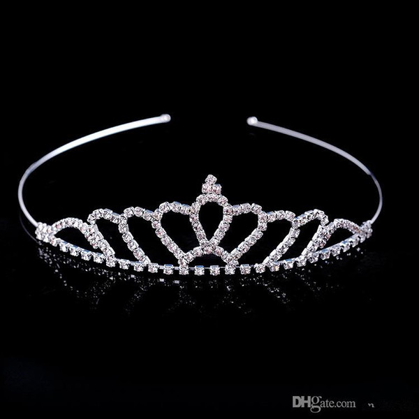 best selling Hot Sale Beautiful Shiny Crystal Bridal Tiara Party Pageant Silver Plated Crown Hairband Cheap Wedding Accessories 2018 New Design
