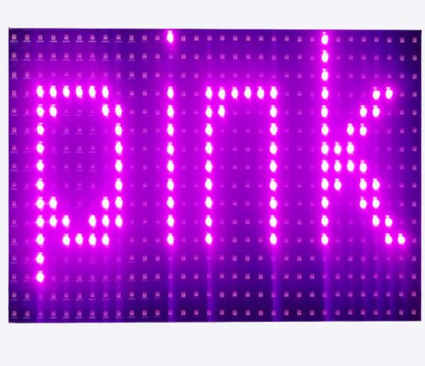 Livraison gratuite semi-extérieure p10 smd couleur rose led module de signe de défilement 320 * 160mm pour affichage de texte à LED