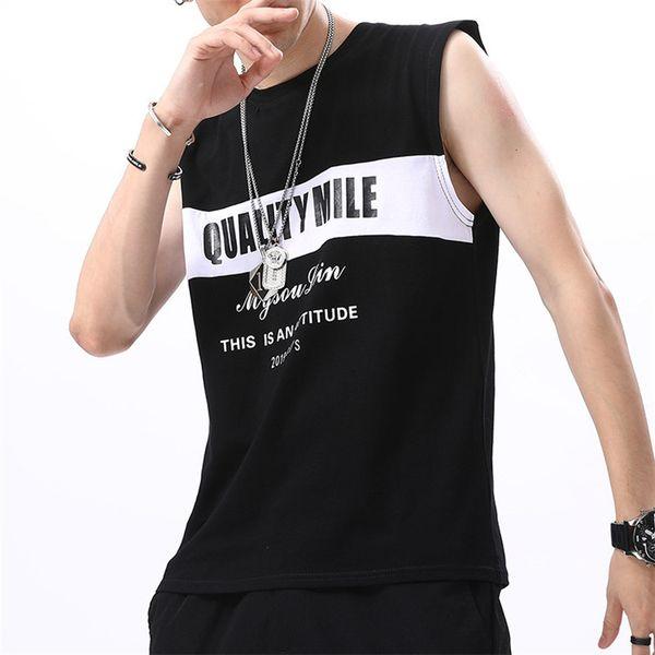 2019 Novos Homens Regata Casual Singletos de Fitness Marca Mens T-Shirt Sem Mangas Gasp Hip Hop Colete Elefante de Algodão de Impressão Undershirt M-4XL