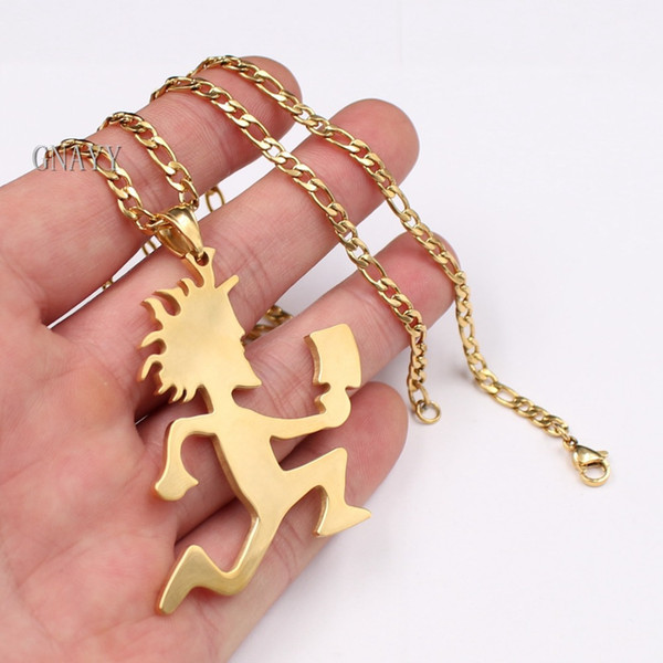 wholesale stainless steel Big 2'' HATCHETMAN ICP Pendant Necklace NK Curb chain 24'' 4MM