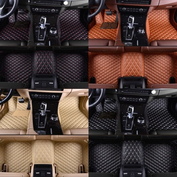 Fit Volvo XC90 2010-2019 Custom made Car Floor Mats Front & Rear Liner Accessories Non-slip waterproof All leather Luxury Carpets Pads