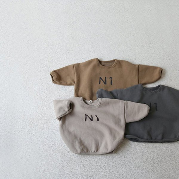 winter new kids sweatshirts fur lining boys sweatshirts letter print fur hoodies for girls