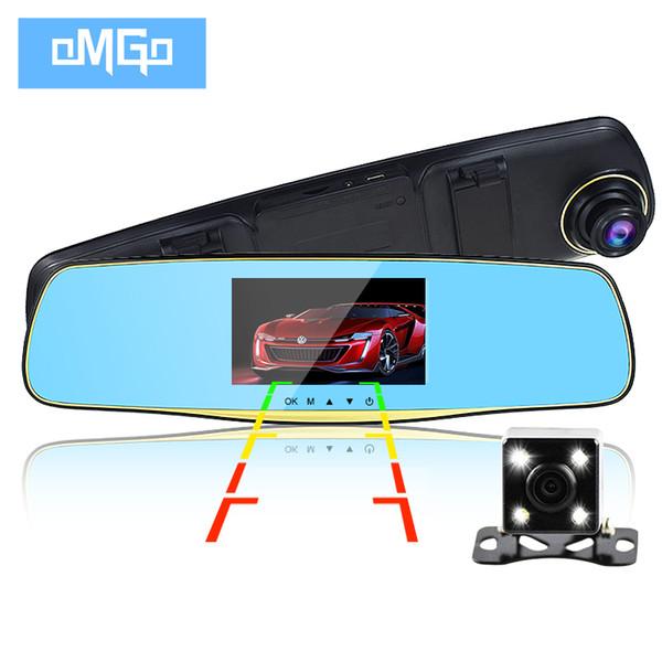 dual lens car camera cars dvr rearview mirror auto dvrs recorder video registrator full hd1080p camcorder dash cam