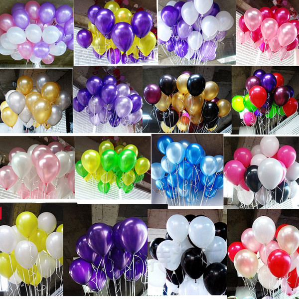 top popular 10inch 2.2g Pearl Latex Balloons Happy Birthday Party Wedding Christmas Decoration Balloon Kids Toy Air Balls Globos 2021