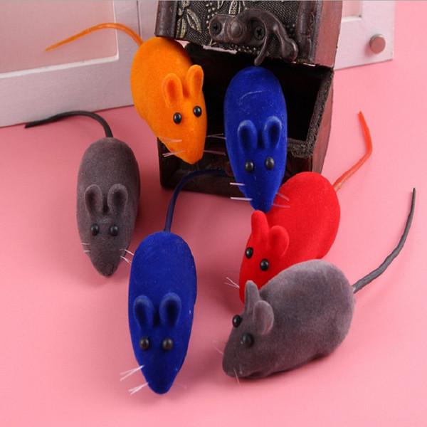 Squeak Mouse Cat Toy Vocal Little Mouse Juguete Ruido Sonido Rata Perro Mascota Jugar Juguetes Mini Rata para Gato