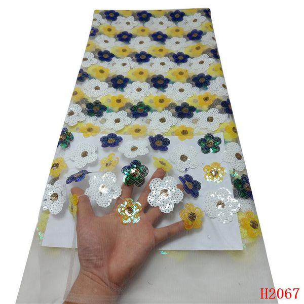 Африканский кружево ткань многоцветный блестки вышивка французский кружева последние высокое качество тюль кружевной ткани для партии X2067