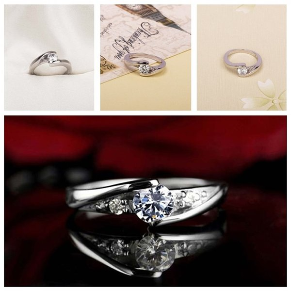 High quality platinum gold-plated ring couples together for life ring wedding ring fashion accessories jewelry 1CT Swiss diamond T3C5018