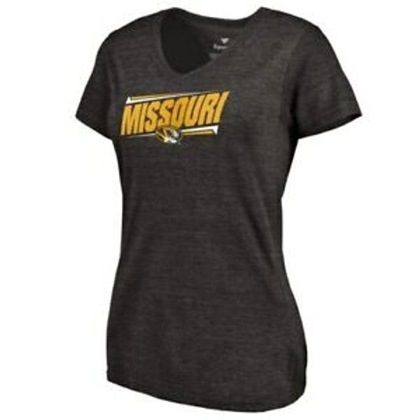 MisShort-SleevDesigni Kurzarm Damen 039 s BlaDesign Double Bar Tri Blend V NeDesign T-Shirt