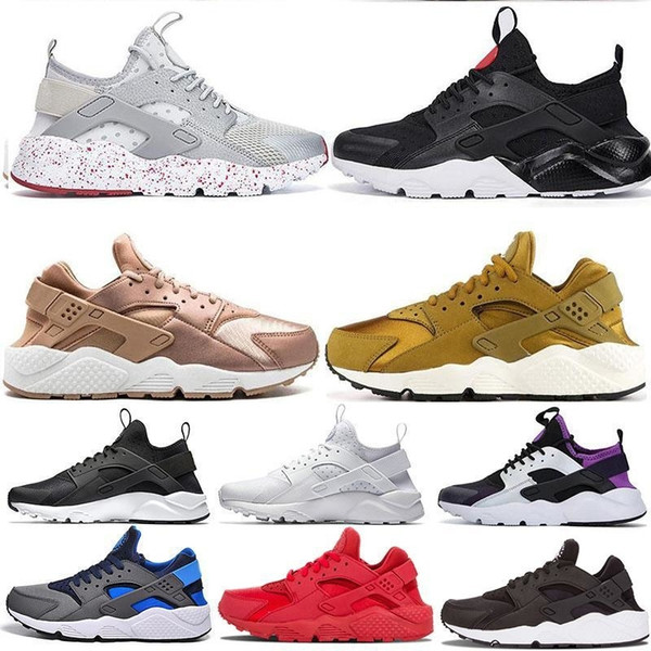 Iv I Cheap Huarache Men Women Classic Running Shoes Grey Triple Black White Runner Athletics Sneaker Huraches Trainers Sport Shoes Eur 36-45