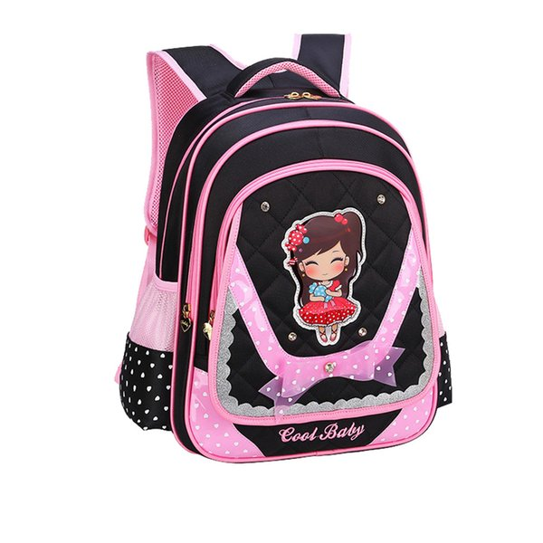 New Cute Girls School Bags Children Orthopedic Primary School Backpack satchel kids book bag Princess Schoolbag Mochila Infantil