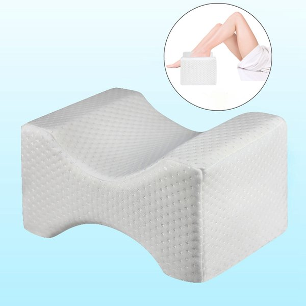 Orthopedic Memory Foam Knee Wedge Pillow for Sleeping Sciatica Back Hip Joint Pain Relief ContourThigh Leg Pad Support Cushion