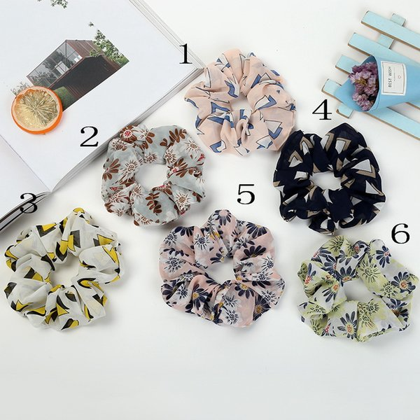 Women Girl Lady Flower Hair Scrunchies Ring Elastic Hair Bands Bobble Sports Dance Soft Charming Scrunchie Spring Hairband 100pcs FJ3365
