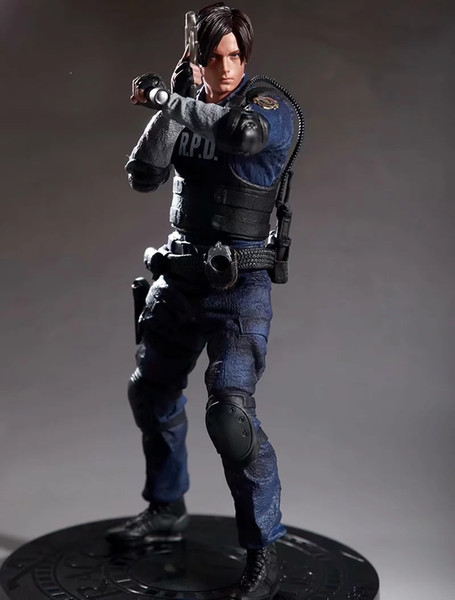 Resident Evil 2 Leon Scott Kennedy Heykeli Şekil Biohazard Özel Ajan Leon Modeli Oyuncak Figürü