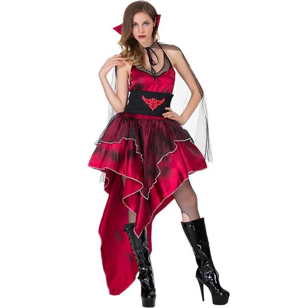 Costumi da vampiro per adulti Donne Deluxe Vampiri Queen Principessa Cosplay Abbigliamento sexy Festa di carnevale di Halloween Fancy Dress