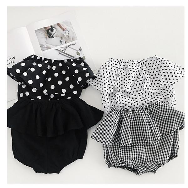 Baby Girls PP Shorts Fashion Plaid Flower Polka Dots Printed Ruffle Children Hot Pants Korean Summer Kids Shorts wt1765