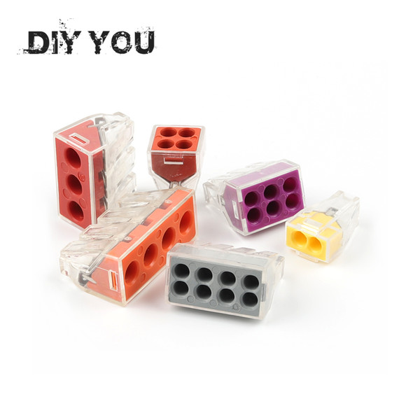 best selling ights & Lighting 30 50 100PC DIY YOU PCT-102 103D 104D 104 106 108 Universal Compact Wire Wiring Connector Conductor Terminal Block With ...
