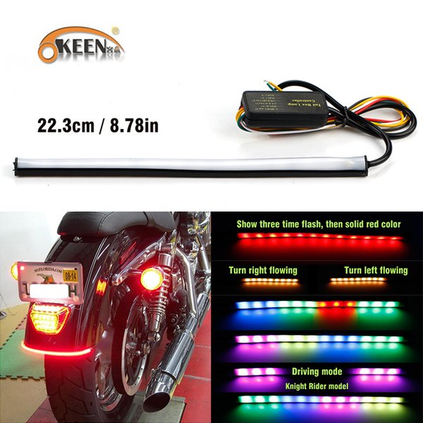 2019 23cm Sequential Running Rgb Red Amber Turn Signal Led Motorcycle Led Stop Light Strip Brake Light Strip 12v Led For Moto From Fusen16888 26 13