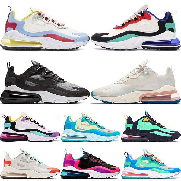 2019 New React Hommes Femmes Chaussures De Course Bauhaus Optique Oreo Blanc Profond Bleu Designer Hommes Baskets Respirant Sports Sneaker 5.5-11