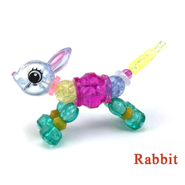 Christmas Toys.Magic Bracelet Collectible Bracelet Set 8 Designs Puppy Bunny Unicorn Make A Bracelet Or Twisty Into A Pet Christmas Gifts Toys For Kids Christmas