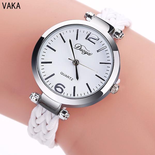 Saf El Dokumalı Bileklik Saat Bayan Moda Saat Bileklik