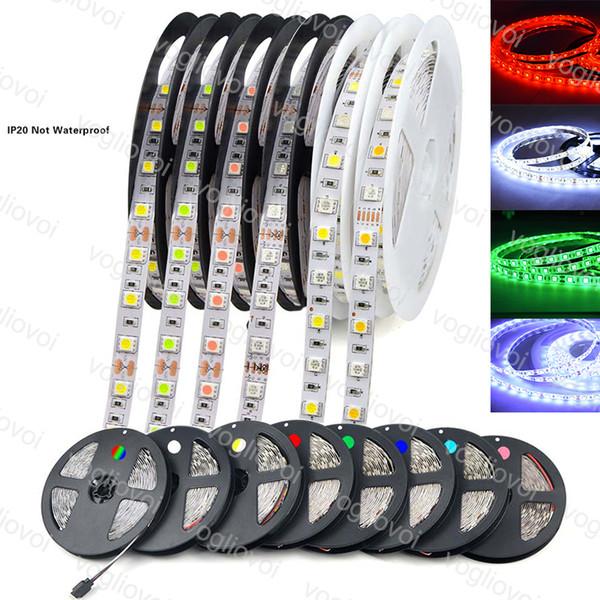 Led Şerit Işık 5M SMD2835 3014 5050 DC12V 300LED Fiexble Işık Led Şerit Su geçirmez Süper Parlak HDTV televizyon Masaüstü Ekran Arkaplan EPACKET