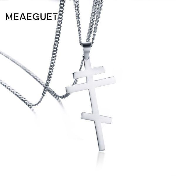 cross pendant Russian Orthodox Cross Pendant Men Women Christian Crucifix Male Church Eternal Church Inspirational NIKA Necklace