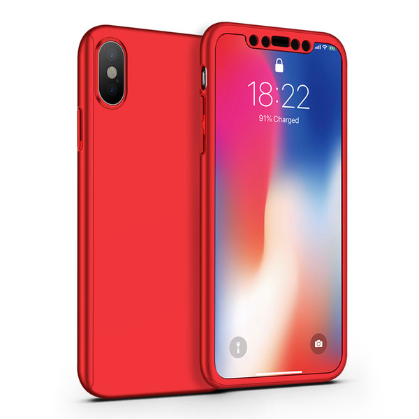 360 Case For Samsung S10e S10 Plus For iPhone XS MAX XR 8 plus Tempepred glass Full Body Cover
