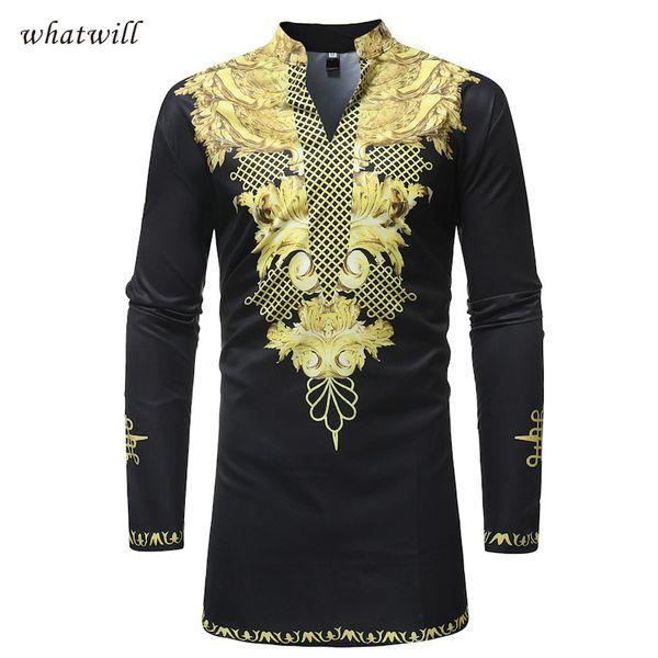 africa clothing hip hop dress shirts mens fashion