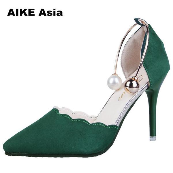 2019 kleid Mode Sexy Hohl Mit Sandalen 2018 Sommer Koreanische Version Der Dünnen Atmungsaktive Frauenpumpen Hochhackige Schuhe Weibliche Spitze