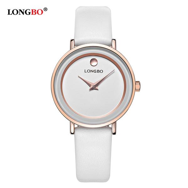 Reloj Mujer LONGBO Simples Mulheres Relógios Moda Quartz Mulheres Assista À Prova D 'Água Pulseira De Couro Senhora Relógio Relogio masculino