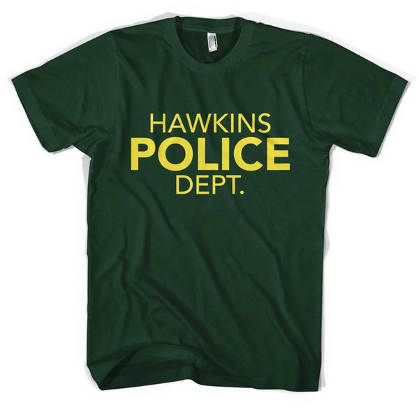 Hawkins Police Dept. Stranger Things Unisex T-Shirt All Sizes ColoursFunny free shipping Unisex Casual Tshirt
