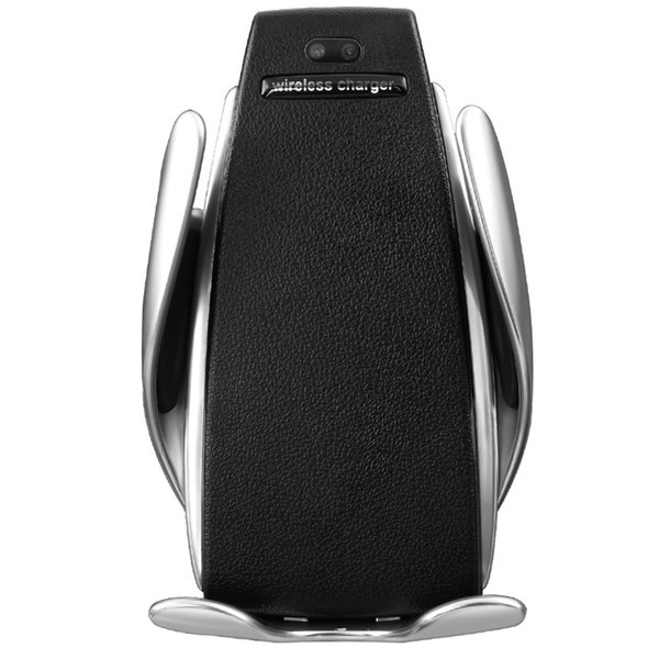HOT 360 Rotar Inteligente Automático de Sujeción Clamping Cargador Inalámbrico para iPhone XR Xs Max 8 Plus S9 Cargador Rápido Air Vent Mount Soporte para Teléfono