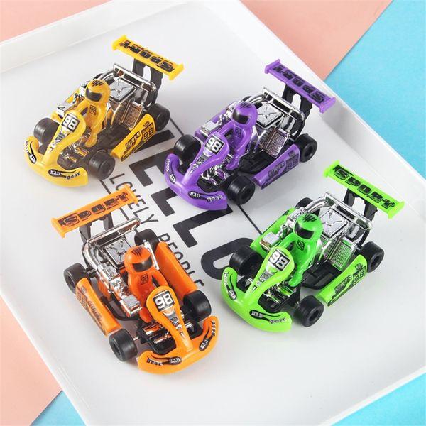 Mini crianças carro de corrida de desenvolvimento brinquedos inerte plástico pull-back veículo crianças brinquedos boa qualidade a b